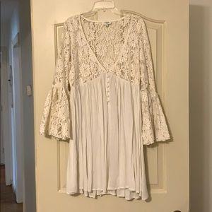 Umgee Off White Lace Tunic